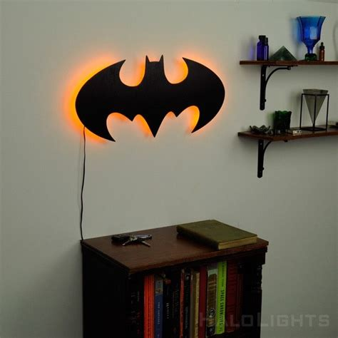 illuminated batman sign gadget flow s coolest products batman bedroom batman room batman sign