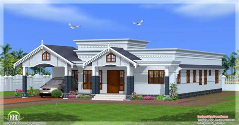 single house designs 4 bedroom single floor kerala house plan kerala home design and floor plans