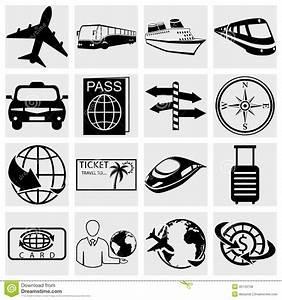 Travel And Tourism Icon Set. Simplus Series. Vecto Royalty ...