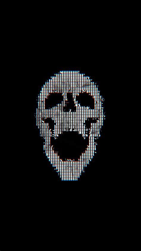 bc digital skull dark black art illustration simple