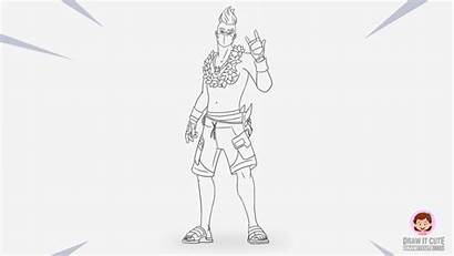 Fortnite Drift Summer Draw Season Coloring Drawing