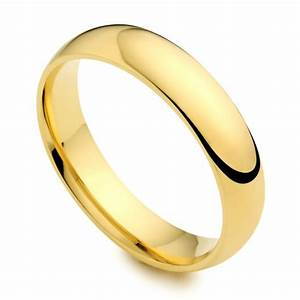 18ct yellow gold 4mm wedding ring austen jewellers With grooms wedding rings