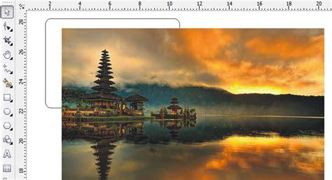 membuat kartu nama  background gambar