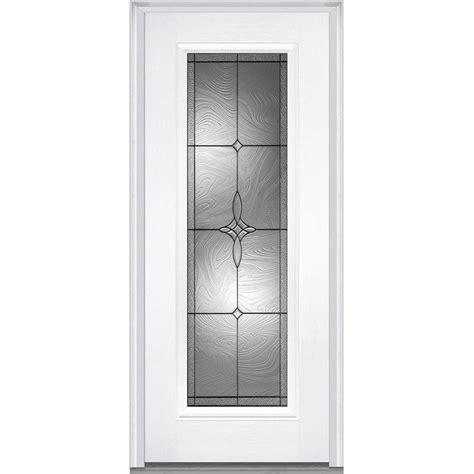 mmi door full lite decorative glass  hand inswing