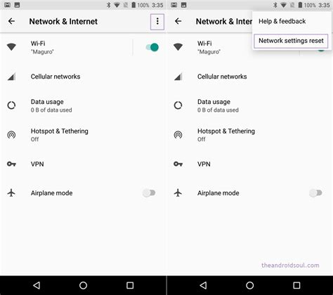 reset network settings android android oreo how to do network settings reset the