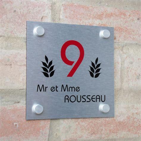 plaque numero de maison plaques professionnelles et plaque de maison aluminium votre plaque personnalis 233 e en aluminium