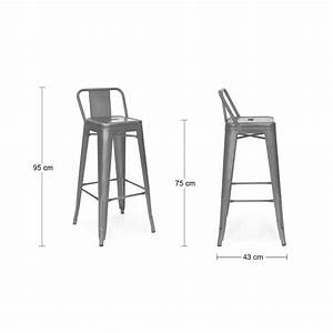 Tabouret Avec Dossier : peppermint 75cm stool low back rest cult uk ~ Dallasstarsshop.com Idées de Décoration