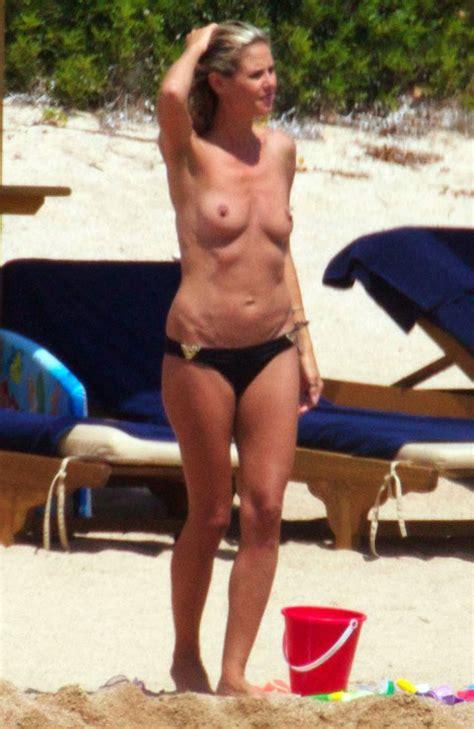 Heidi Klum Topless On Beach 6 New Pics