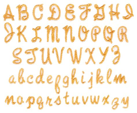 rope font embroidery font annthegran
