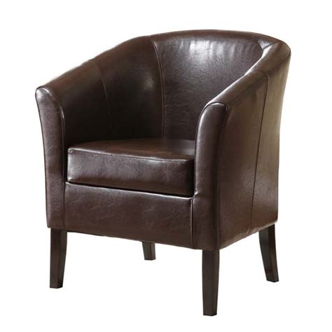 linon simon collection club chair brown 36077brn 01 as u