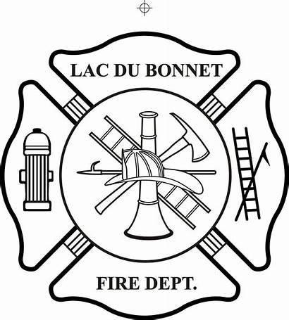 Firefighter Maltese Fire Cross Department Vector Badge