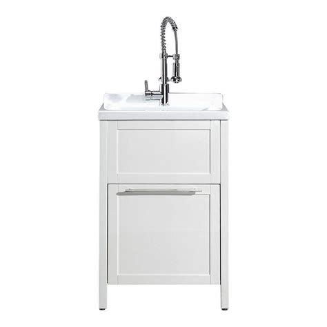 Utility Sink In Cabinet by Schon Eleni All In One Kit 24 In X 22 In X 37 8 In