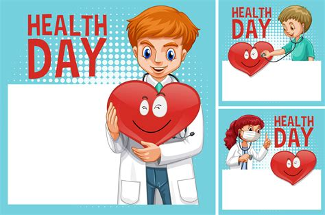 border template  doctors  health day