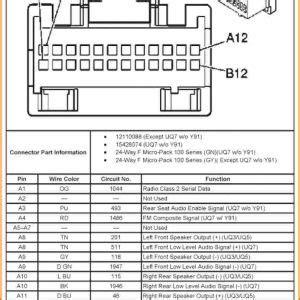 chevy silverado radio wiring harness diagram
