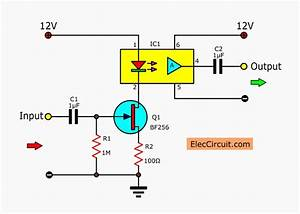 Linear Opto Isolator Circuits  U2013 Electronic Projects Circuits