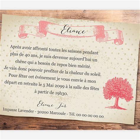 modele carte invitation depart en retraite carte invitation d 233 part 224 la retraite r 233 f n111133