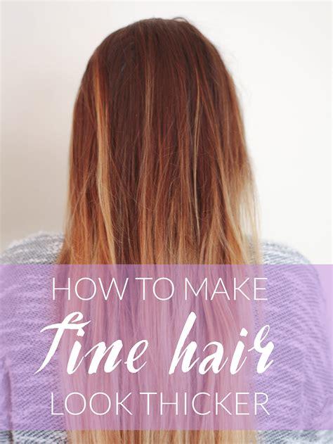 fine hair  thicker michelle phan