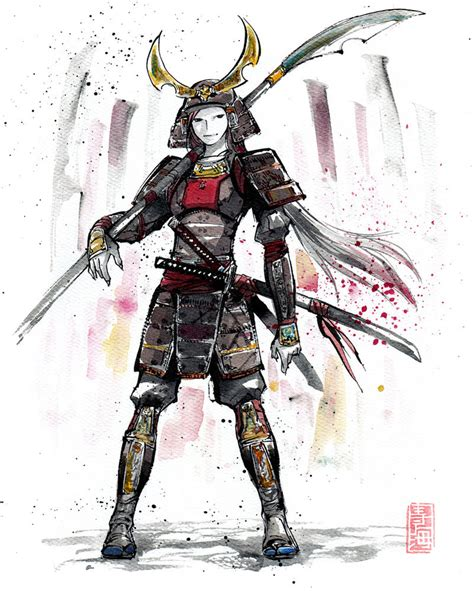 samouraï siège samurai in armor sumie style by mycks on deviantart