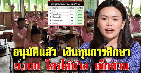 ด่วน อนุมัติแล้ว ทุนการศึกษา 9,100 ให้อนุบาล-มัธยมปลาย ...
