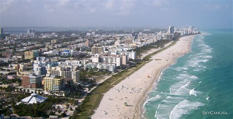 South Beach Miami Florida Remote Controlled Aerial Photography