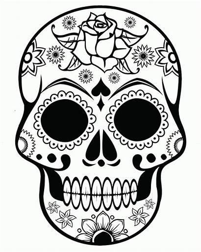 Coloring Skull Sugar Printable