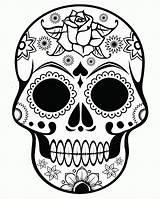 Coloring Skull Sugar Printable sketch template
