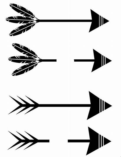 Arrow Svg Tribal Words Silhouette Feathers Clipart