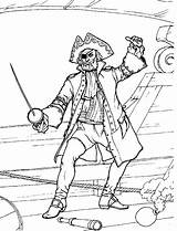Coloring Pirate Pages Pirates sketch template