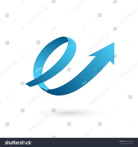letter  arrow loop logo icon stock vector
