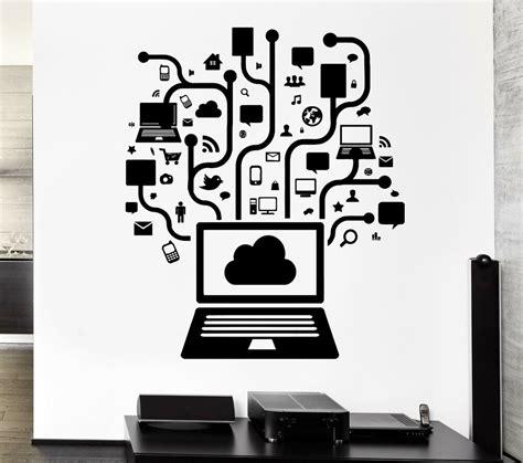 wall decal computer  social network gamer internet