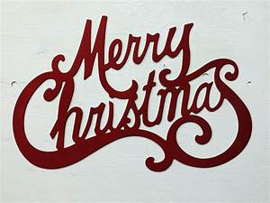 Metal, Merry, Christmas, Sign, Indoor, Outdoor, Holiday, Decor