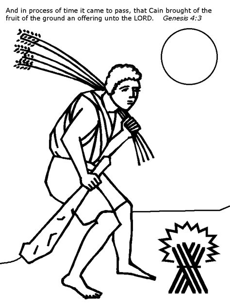 Kain En Abel Kleurplaat by Cain And Abel Coloring Pages Coloring Home