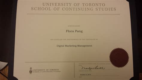 Digital Marketing Certificate Canada by Flora Pang Digital Marketing Specialist On Emaze