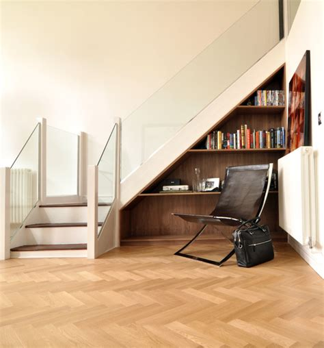 open space stairs open plan living space contemporary living room
