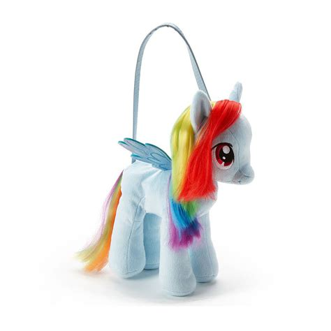 pony rainbow dash plush purse bag toy sml