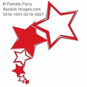 Clip Art Illustration of Shooting Stars Logo Element