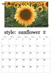 printable sunflower calendars personalized calendar maker