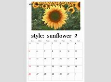 Printable Sunflower Calendars personalized calendar
