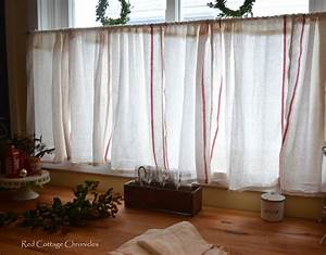 Ikea dishtowel hack towels cafe curtains and kitchen for Kitchen window curtains ikea