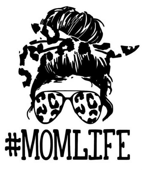 1,000+ vectors, stock photos & psd files. Mom life messy bun leopard print svg file. Instant ...