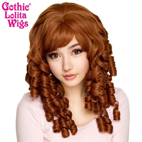 gothic lolita wigs ringlet redux collection auburn