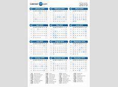 2070 Calendar