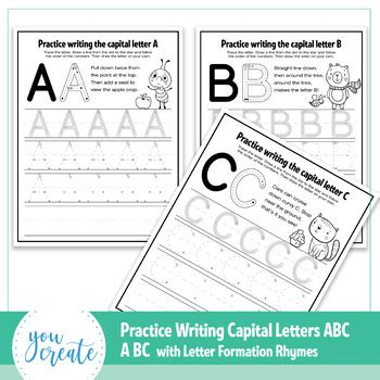 abc letter formation worksheets letter formation poems