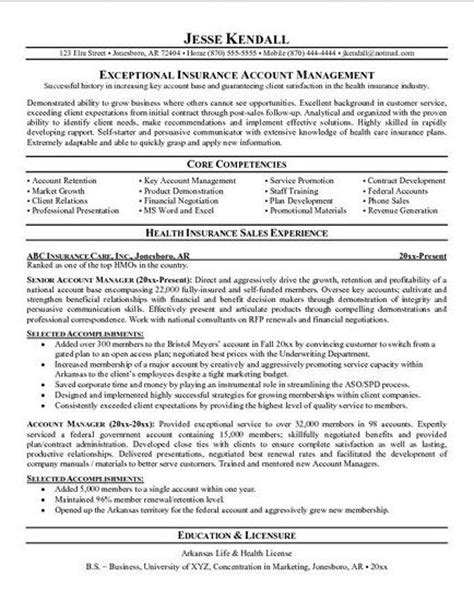 commercial insurance sales resume