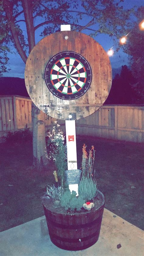 diy dart backboard backyard decor backyard patio