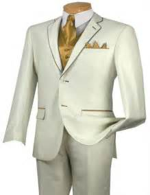 White and Gold Suit Jacket for Men