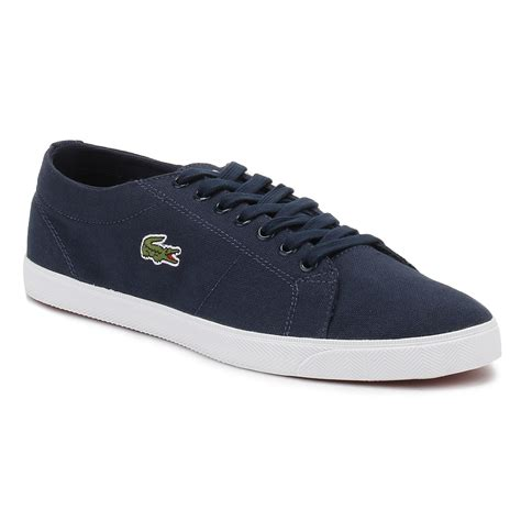 Lacoste Casual Navy lacoste mens marcel lcr2 trainers white or navy blue