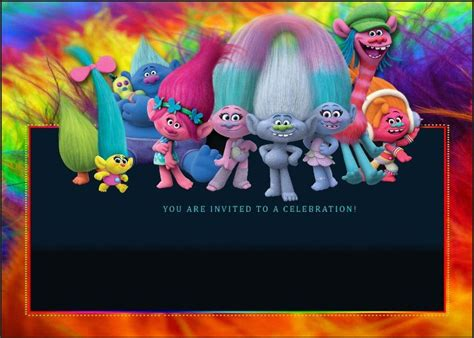 Trolls Invitation Templates Free by Birthday Party Invitation For Calling All Trolls