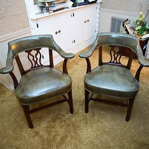 Pair, Of, Vintage, Library, Armchairs, By, Hickory, Chair, Company