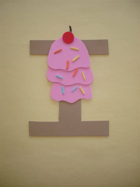 play  learn  dana letter  ice cream preschool